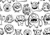怪獸 怪物 簡筆畫 獨具神韻的小怪獸