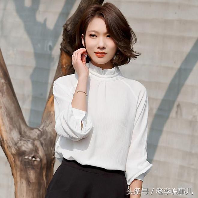 職場女性不必糾結穿什麼好,時尚個性的雪紡衫,修身顯瘦幹練優雅