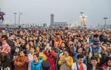 「組圖」2017年10月1日 近10萬群眾在天安門廣場觀看國慶升旗儀式