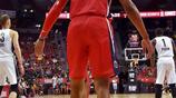 日本籃球運動員八村塁在NBA夏季聯賽對陣藍網的比賽中上場