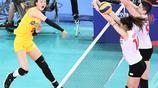 世界女排聯賽江門站比賽,中國女排3比0完勝土耳其女排