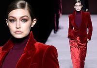 時裝週Gigi一身紅色救不了這超垮的臉,前排看秀孟美岐坐姿太減分