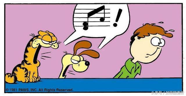 加菲貓漫畫|要說從漫畫界跨過來的歌王,還得是加菲貓和歐迪