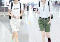 魯豫時髦走機場!穿短褲秀美腿不像49歲,瘦成竹竿的身材太搶鏡