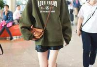 看唐嫣街拍種草的綠色衛衣,你穿為啥不好看?