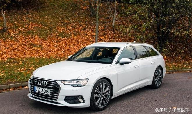 白色的奧迪新A6 Avant 就是漂亮,最美旅行車